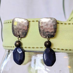 CHICO'S Dangle Earring Silver with Blue Bead